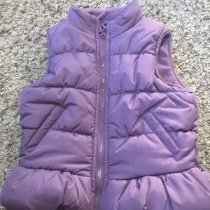 Girls purple puffer vest